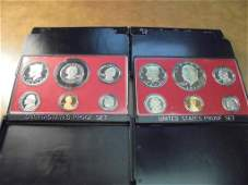 1974  1979 US PROOF SETS WITH BOXES