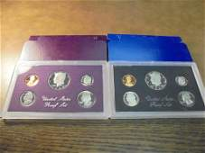 1983  1984 US PROOF SETS WITH BOXES