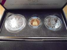 1989 GOLD & SILVER US CONGRESSIONAL 3 COIN PF SET