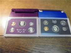1971  1985 US PROOF SETS WITH BOXES