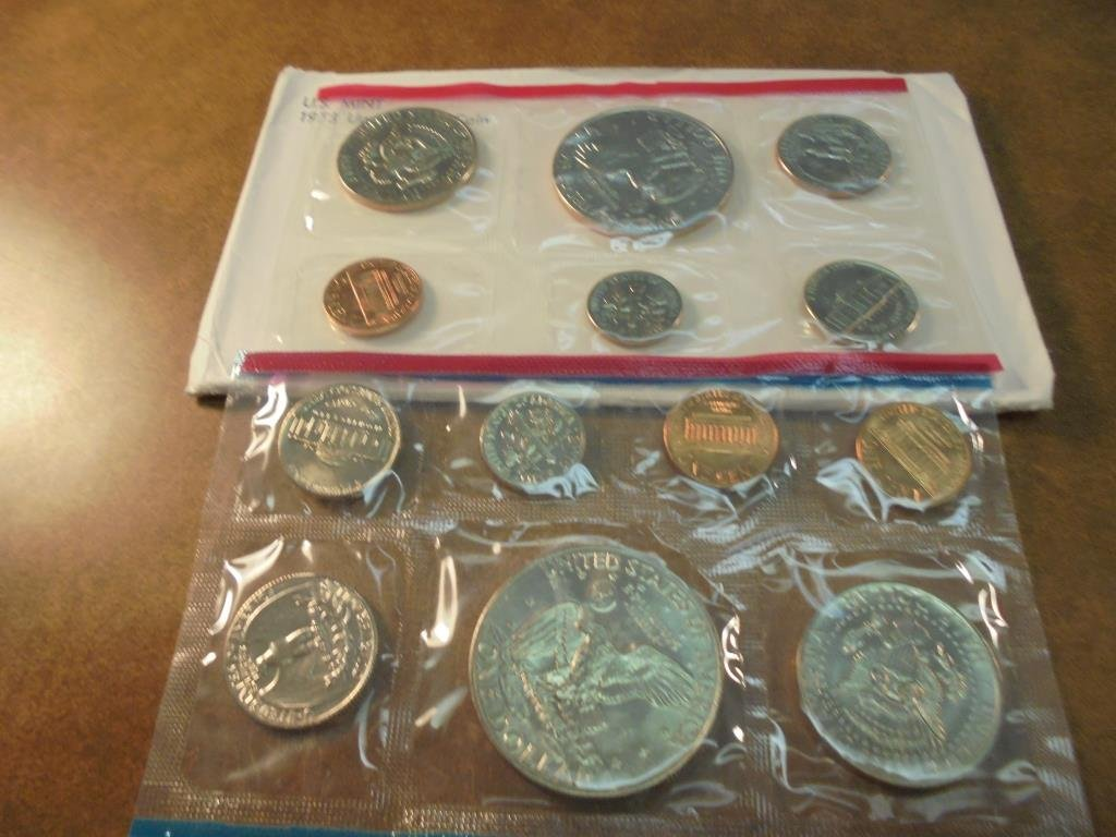 1973 US MINT SET (UNC) P/D/S (WITH ENVELOPE) THIS IS AN