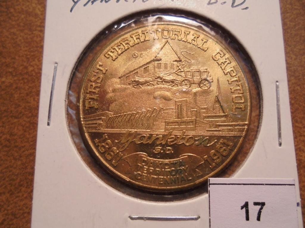 1861-1961 YANKTON SOUTH DAKOTA 50 CENT TOKEN