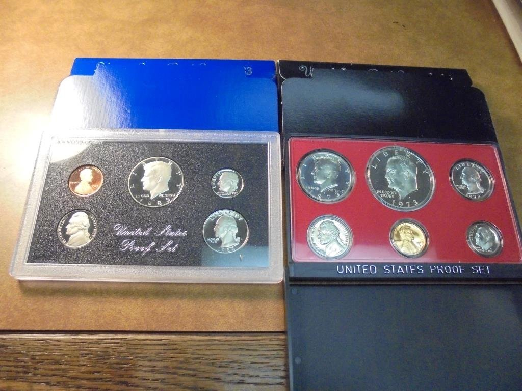 1973 & 1983 US PROOF SETS (WITH BOXES)