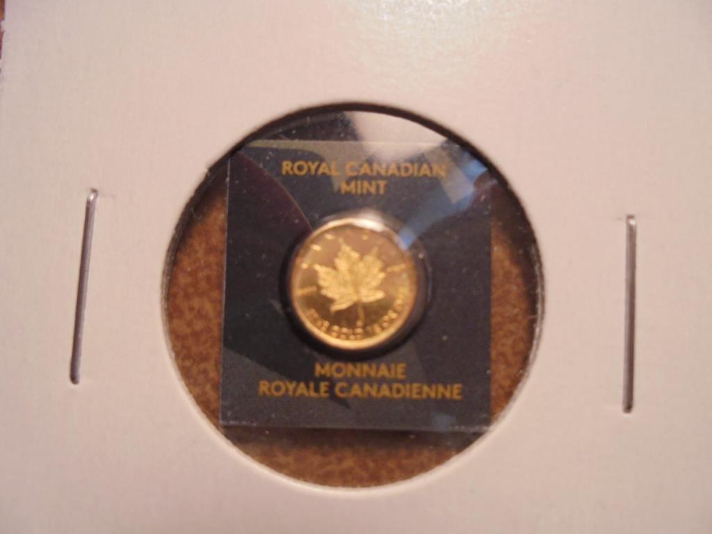 2015 GOLD CANADA 50 CENT 1 GRAM .9999 FINE GOLD