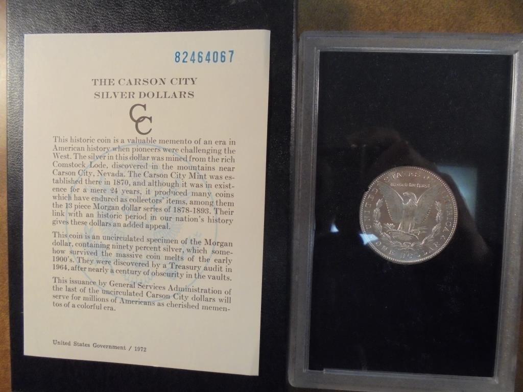 1882 -CC GSA MORGAN SILVER DOLLAR (UNC) WITH ORIGINAL