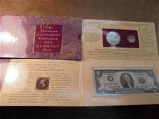 1993 THOMAS JEFFERSON COINAGE & CURRENCY SET CONTAINS: