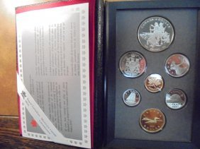 1990 Canada Double Dollar Proof Set Kelsey Original