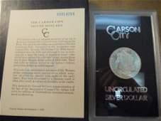 1883 -CC GSA MORGAN SILVER DOLLAR (UNC) WITH ORIGINAL