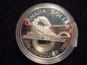 1986 Canada Vancouver Silver Dollar Proof
