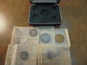1963 Cyprus 5 Coin Proof Set Original Mint Package