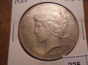 1928 Peace Silver Dollar Key Date Extra Fine 2015