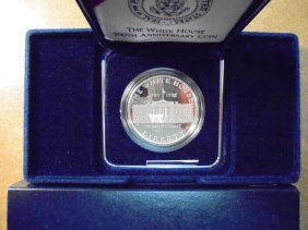 1992-w White House Proof Silver Dollar Original Us Mint