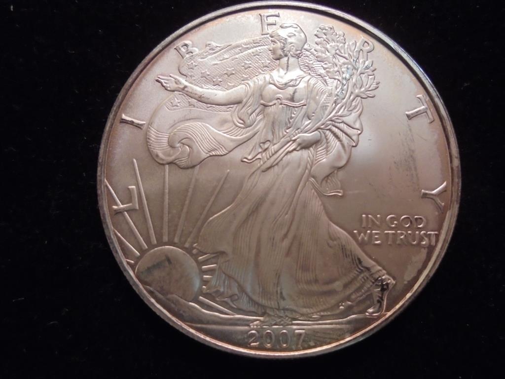 2007 AMERICAN SILVER EAGLE UNC