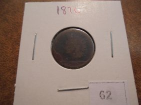 1876 Indian Head Cent (semi-key)