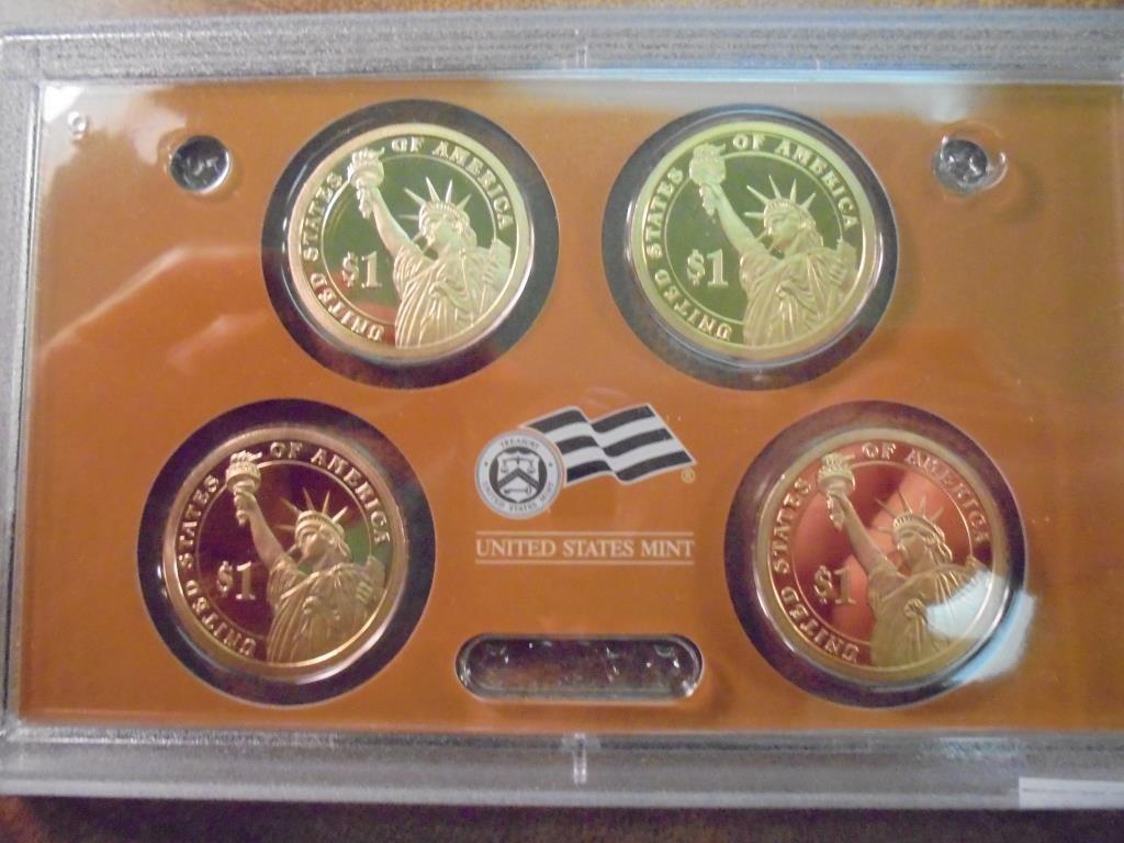 2008 US PRESIDENTIAL DOLLAR PROOF SET NO BOX - 2