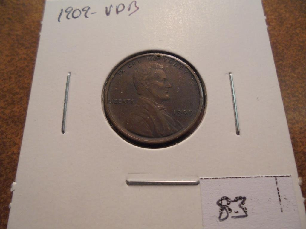 1909-VDB LINCOLN CENT EXTRA FINE