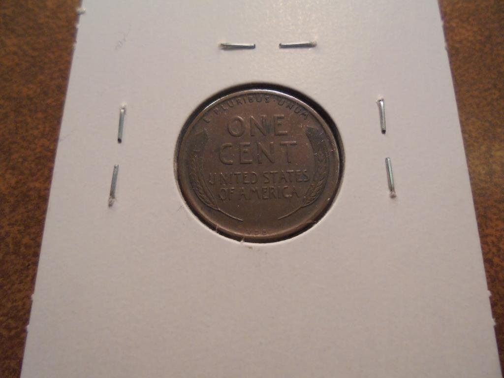 1909-VDB LINCOLN CENT EXTRA FINE - 2