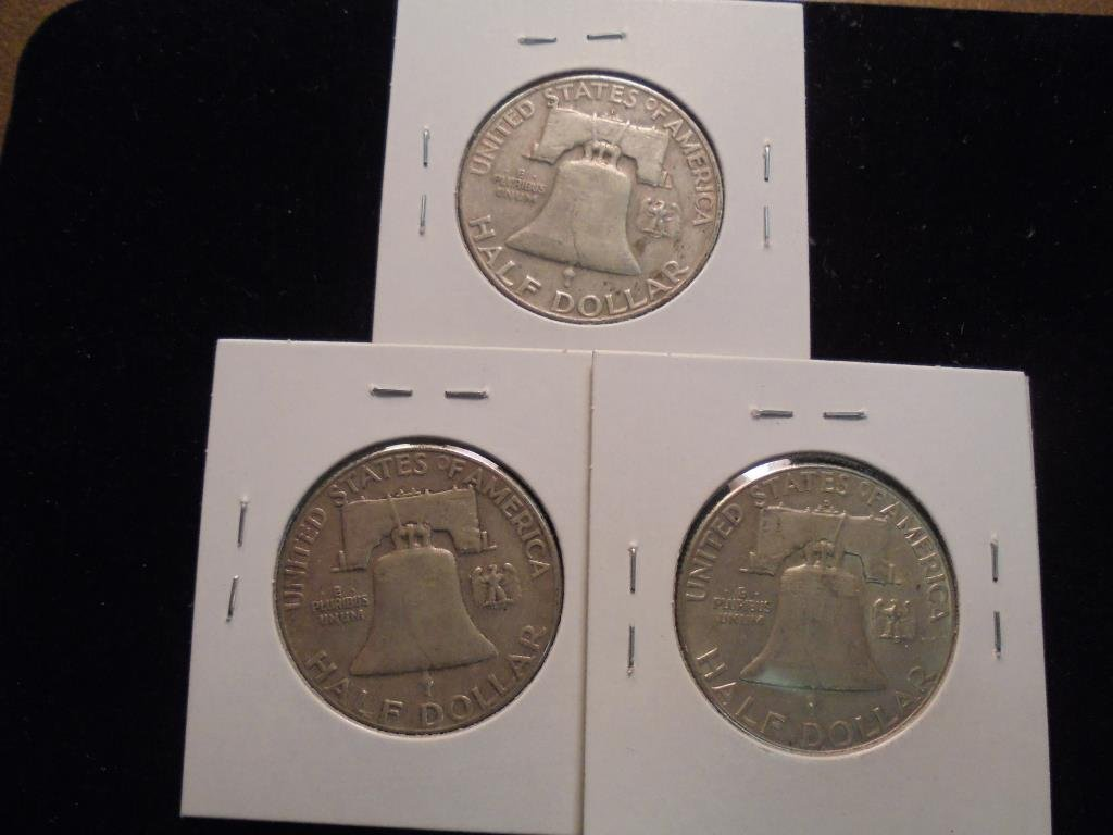 1959-D,60 & 62-D FRANKLIN HALF DOLLARS - 2