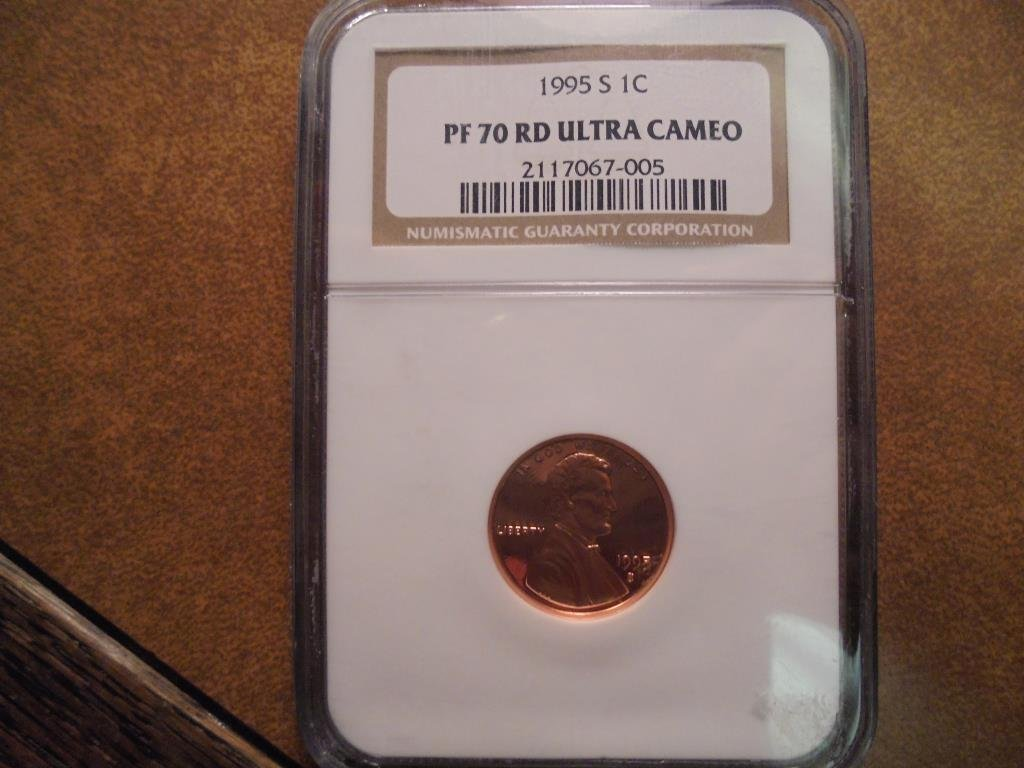 1995-S LINCOLN CENT NGC PF70 RD ULTRA CAMEO