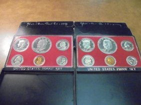1975 & 1976 Us Proof Sets (with Boxes)