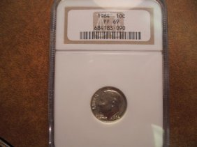 1964 Silver Roosevelt Dime Ngc Pf69