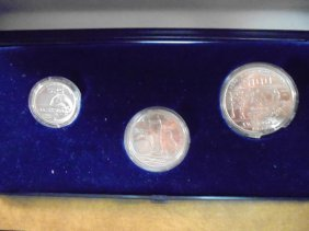 1986 Mexico Futbol 3 Coin Silver Set Contains: 25,