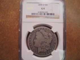1895-o Morgan Silver Dollar Ngc G4 Better Date