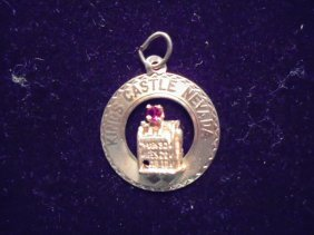 14kt Gold Kings Castle Nevada Charm Approx. 1.7