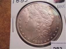 1883 MORGAN SILVER DOLLAR UNC TONED