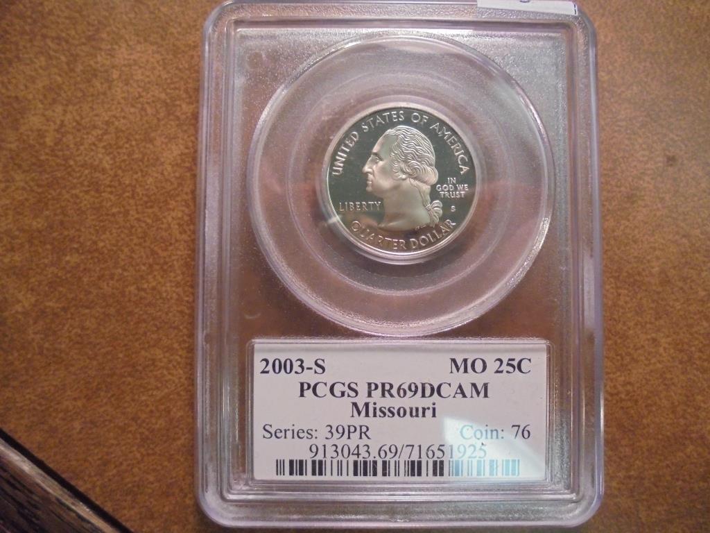 2003-S MISSOURI QUARTER PCGS PR69 DCAM