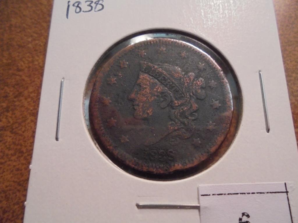 1838 US LARGE CENT