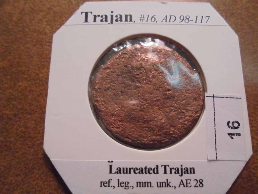 98-117 A.D. TRAJAN ANCIENT COIN