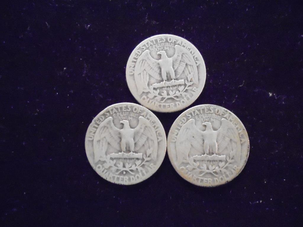 1934,34-D & 35 WASHINGTON SILVER QUARTERS - 2