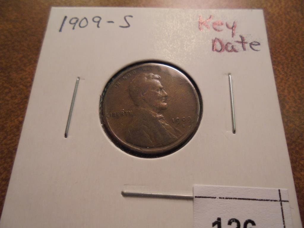 1909-S LINCOLN CENT KEY DATE (FINE)