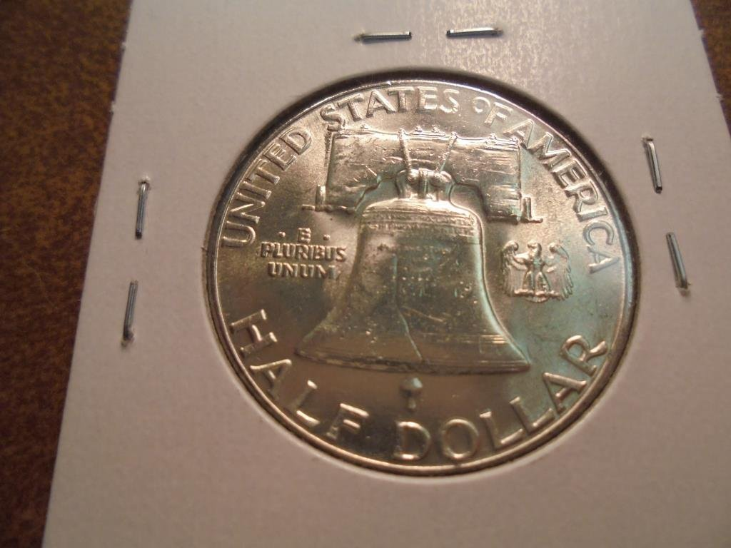 1960 FRANKLIN HALF DOLLAR UNC - 2