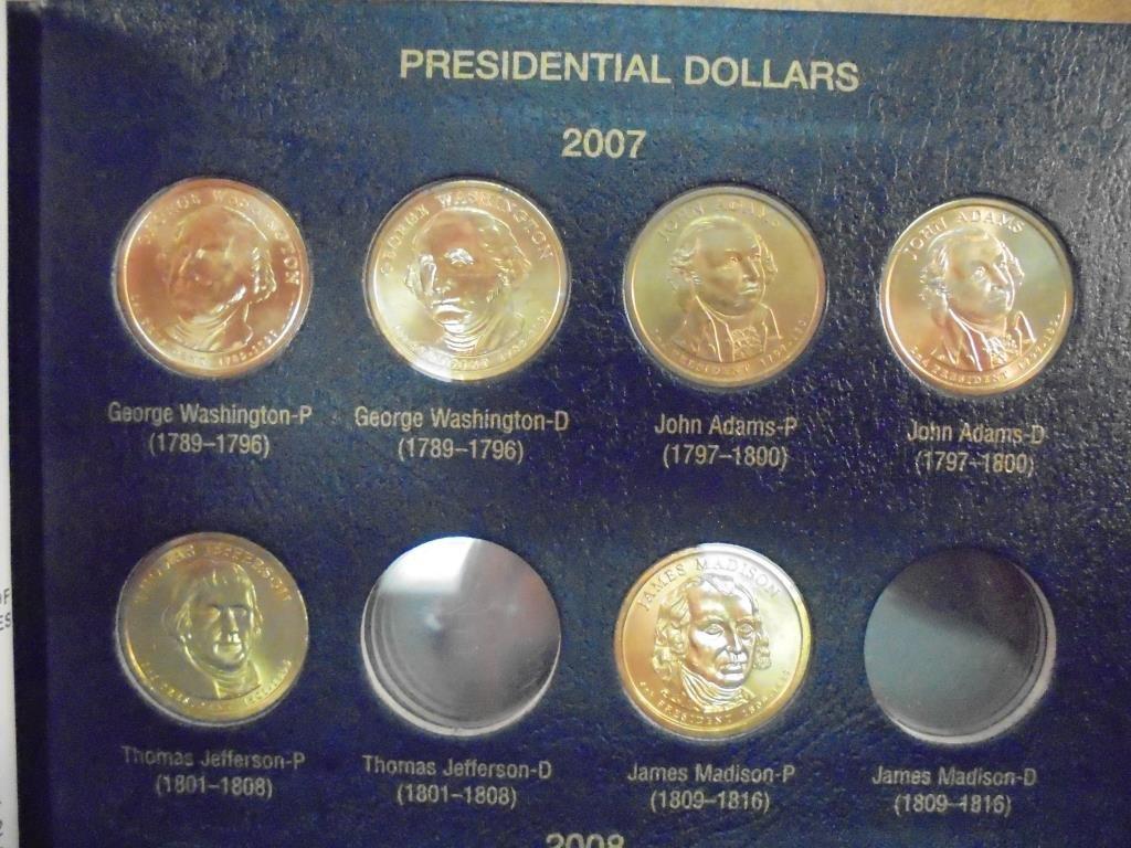 START OF A NICE PRESIDENTIAL DOLLAR 2007-UP SET