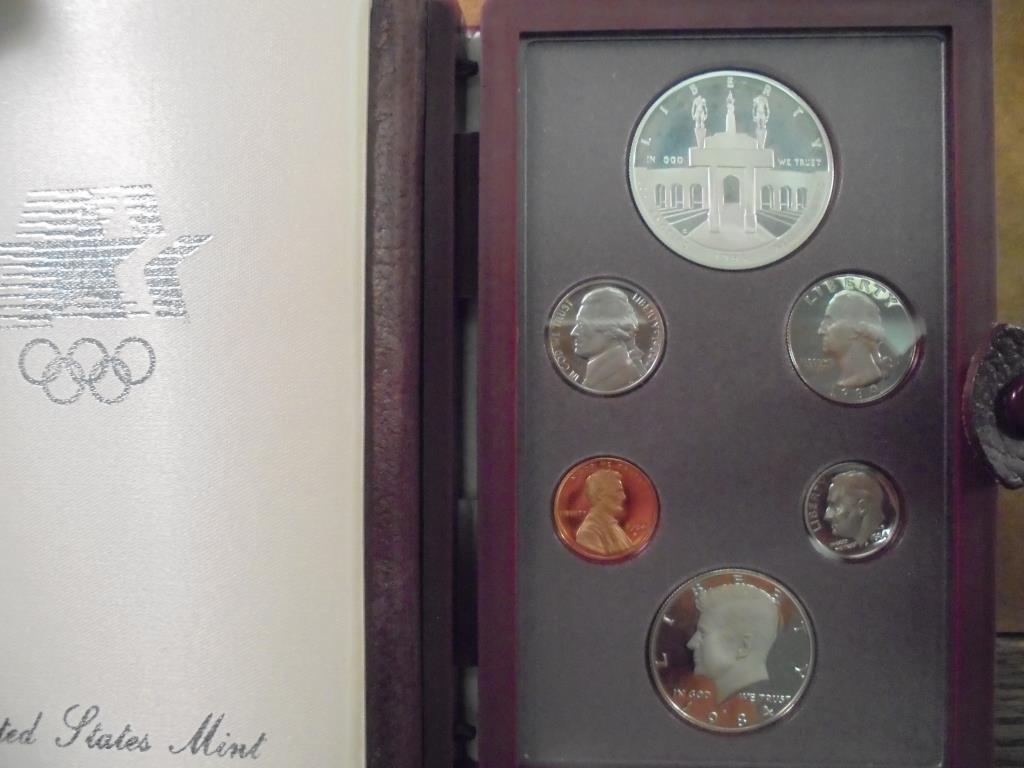 1984 US PRESTIGE PROOF SET OLYMPICS WITH BOX