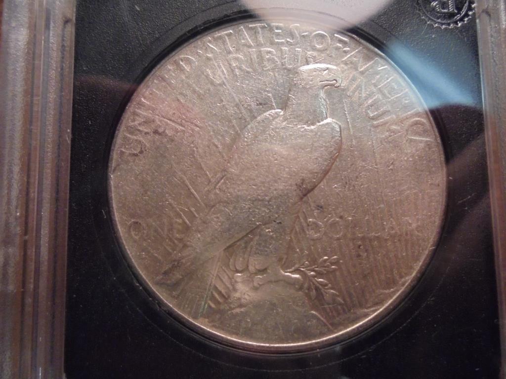 1927-S PEACE SILVER DOLLAR VERY GOOD - 2