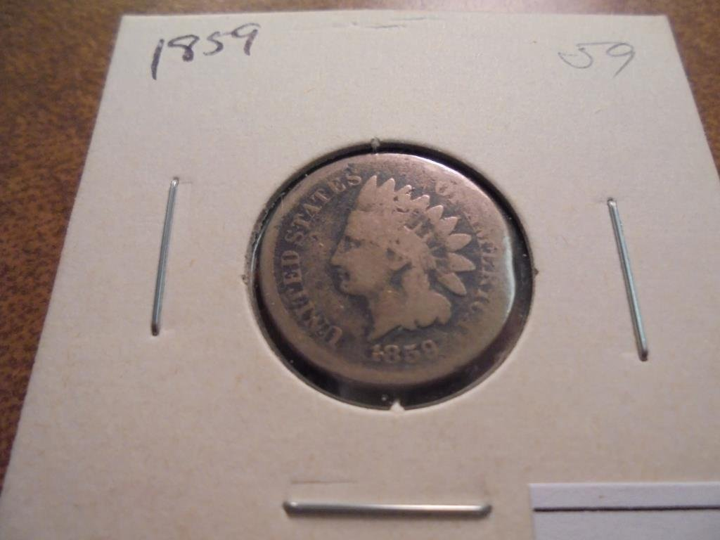 1859 INDIAN HEAD CENT COPPER NICKEL