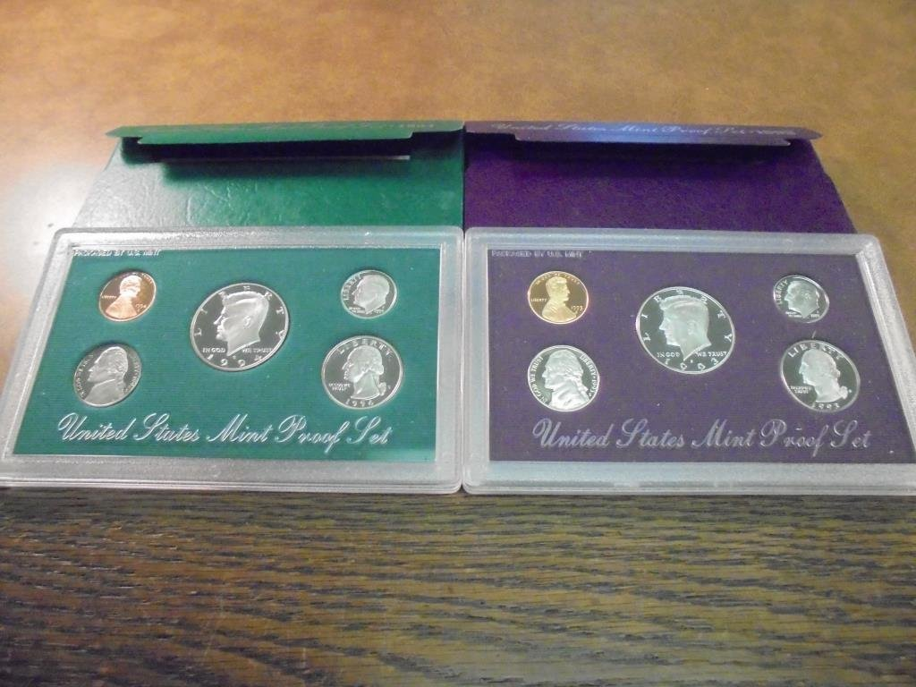 1993 & 1994 US PROOF SETS (WITH BOXES)