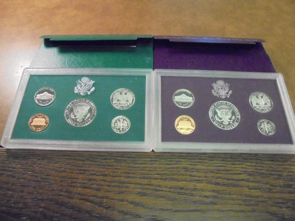1993 & 1994 US PROOF SETS (WITH BOXES) - 2