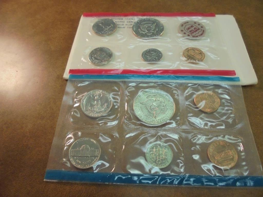 1972 US MINT SET (UNC) P/D/S (WITH ENVELOPE) - 2