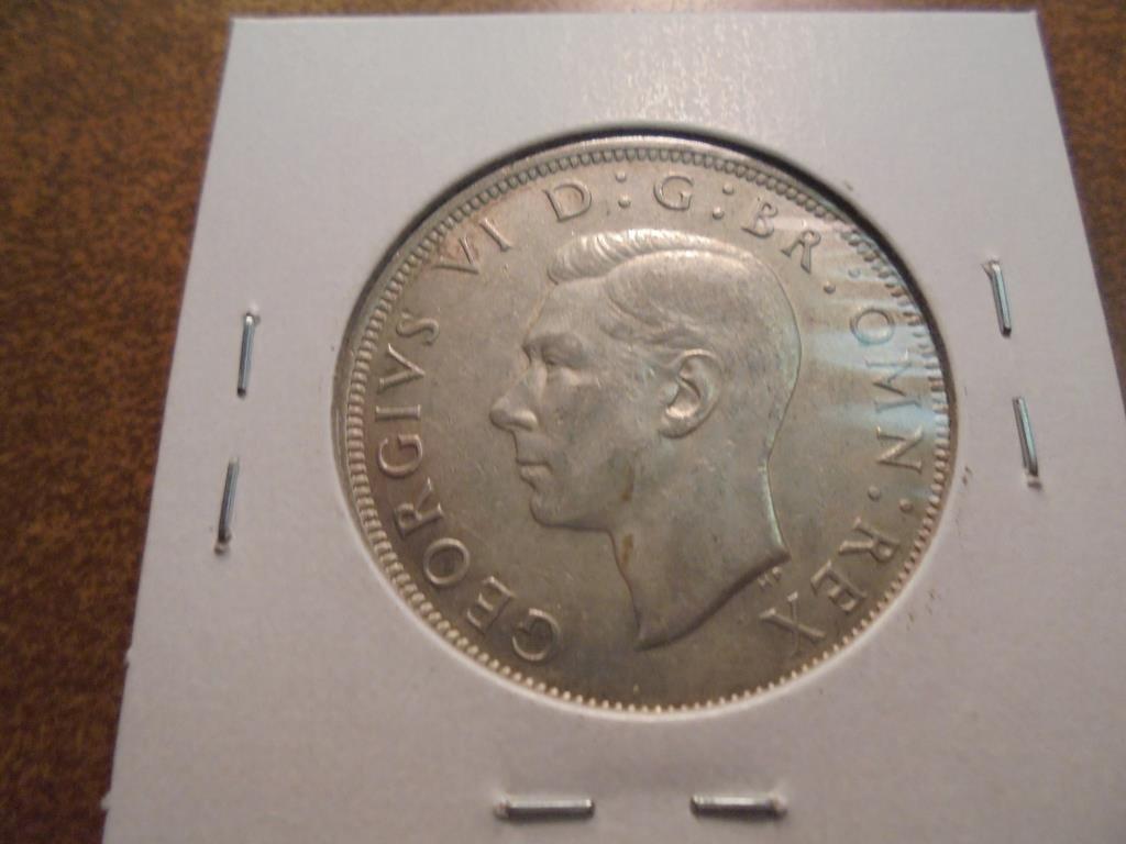 1941 GREAT BRITAIN SILVER HALF CROWN - 2