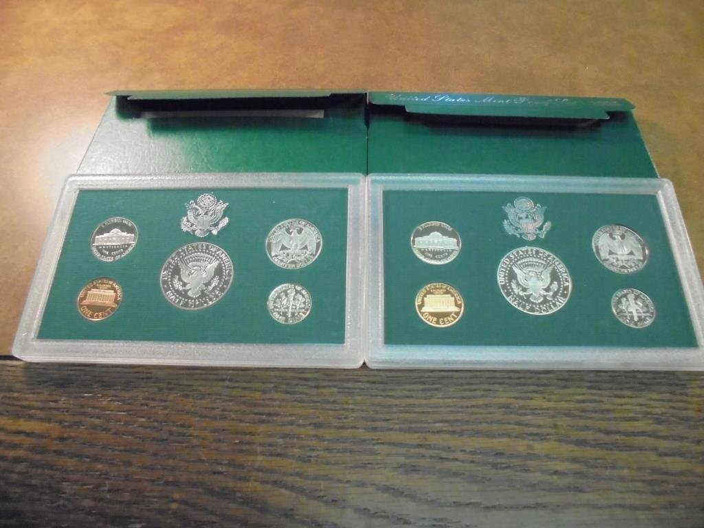 1996 & 1997 US PROOF SETS (WITH BOXES) - 2