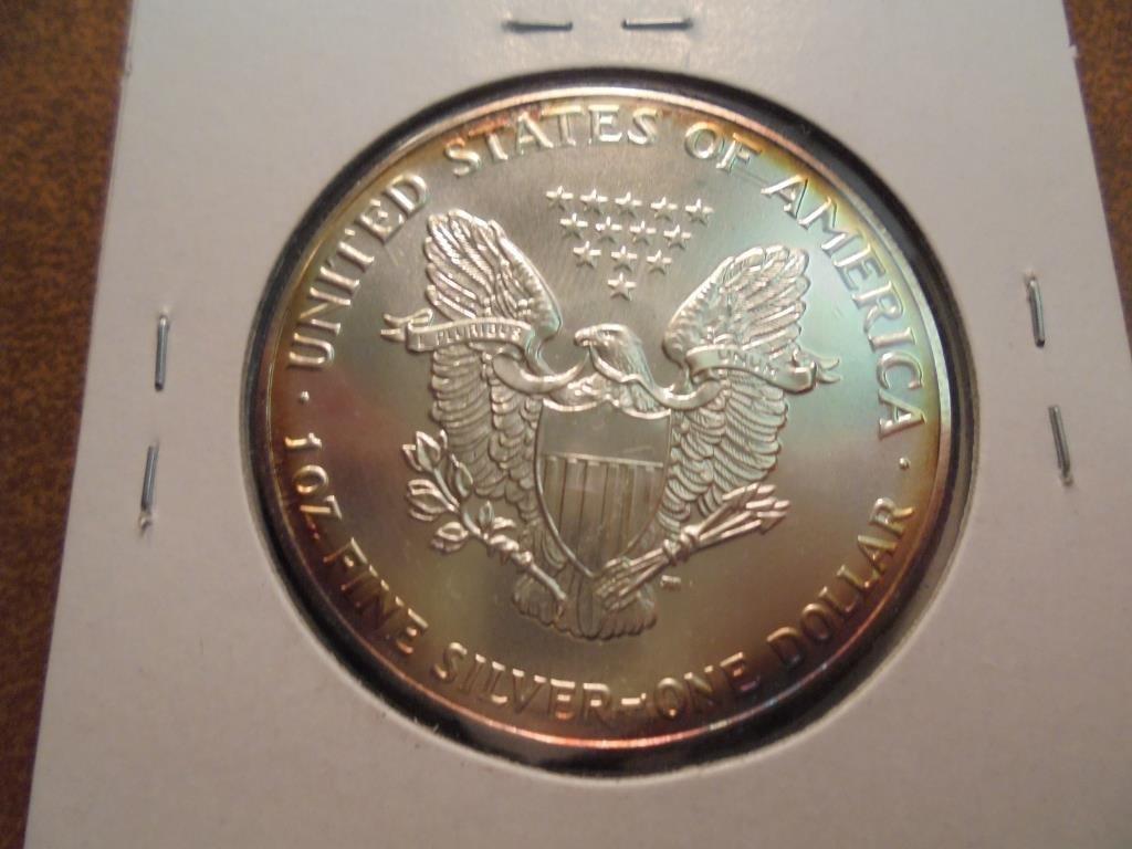 1992 AMERICAN SILVER EAGLE UNC - 2
