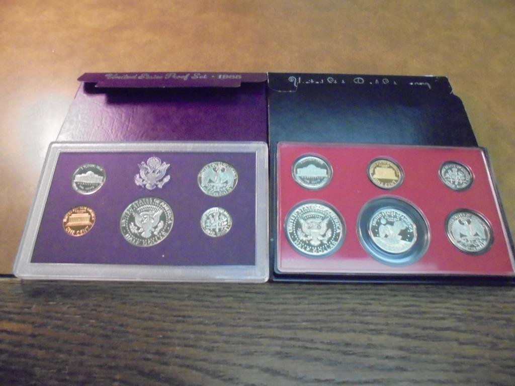1979 & 1985 US PROOF SETS (WITH BOXES) - 2
