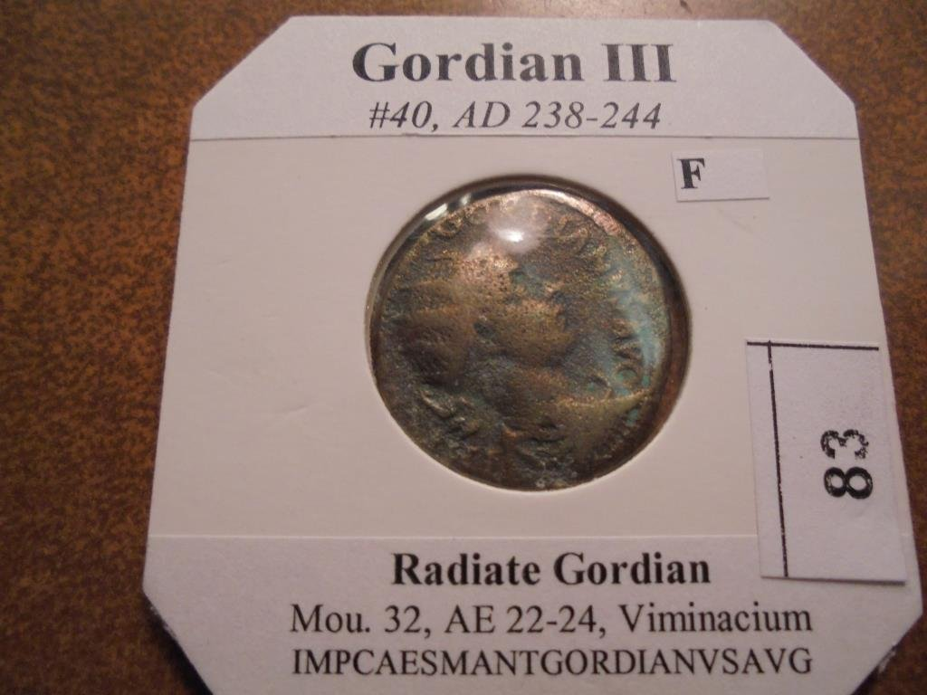 238-244 A.D. GORDIAN III ANCIENT COIN FINE
