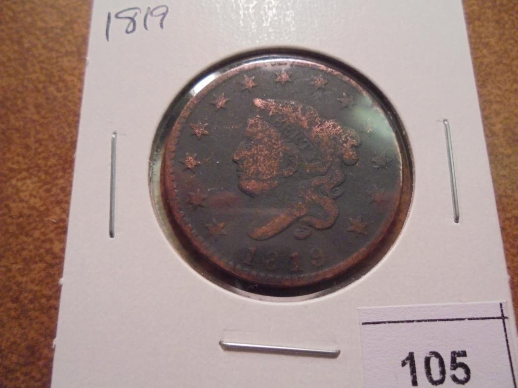 1819 US LARGE CENT