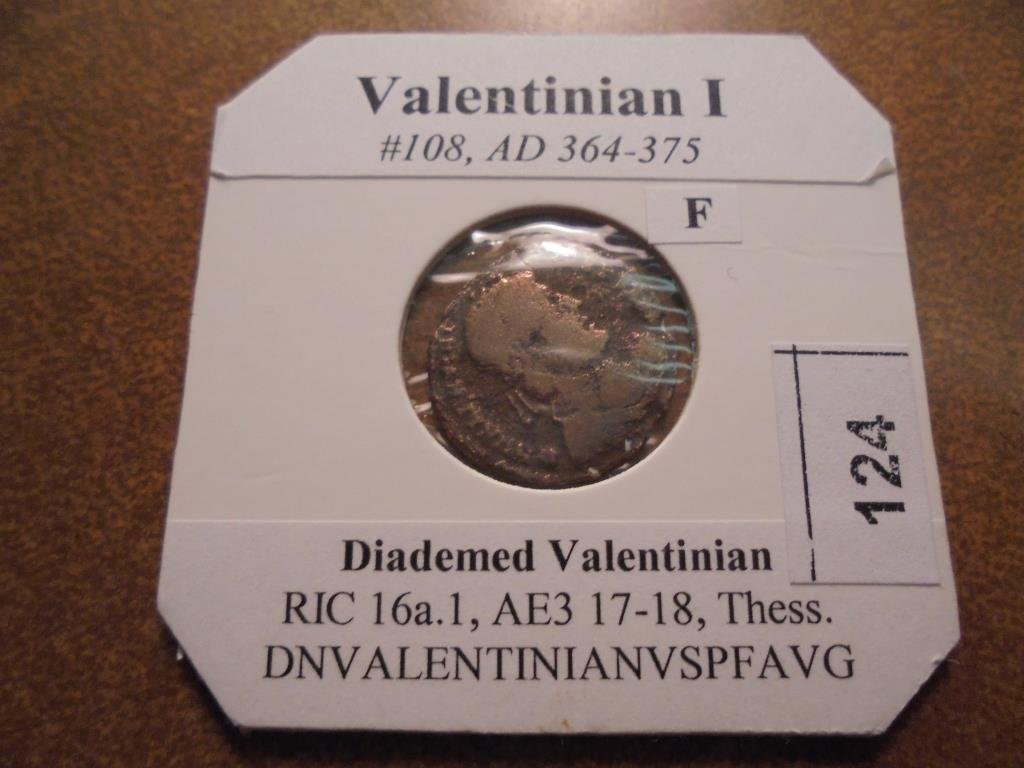 364-375 A.D. VALENTINIAN I ANCIENT COIN (FINE)