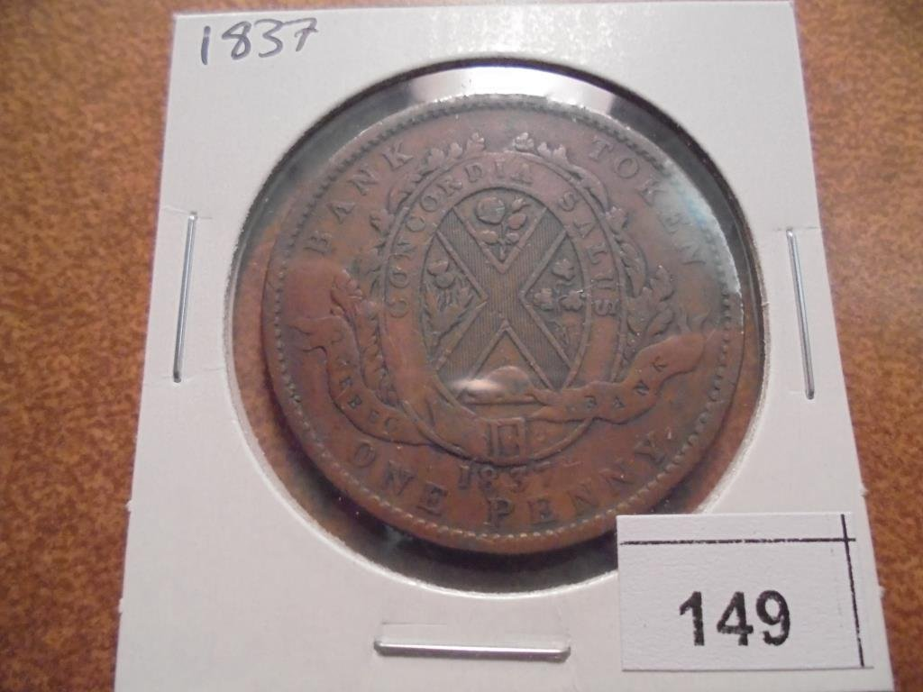 1837 CANADA 1 PENNY BANK TOKEN